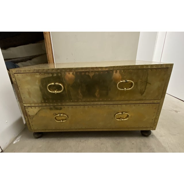 Gold Chest of Drawers Cocktail Table For Sale - Image 9 of 9