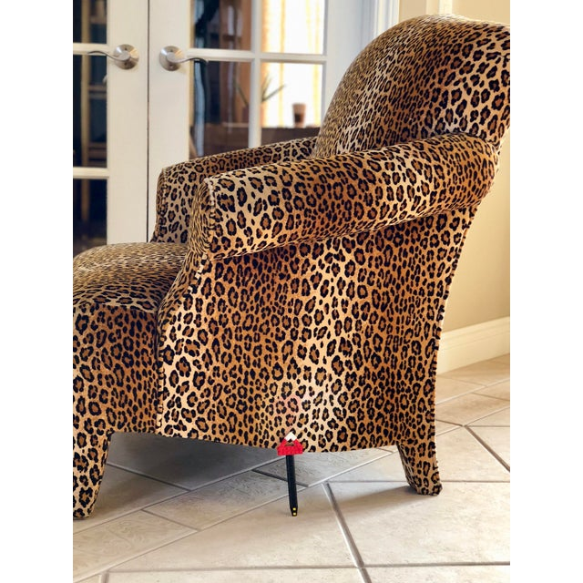 1980s 1980s Hollywood Regency Cheetah Roll Arm Chair For Sale - Image 5 of 9