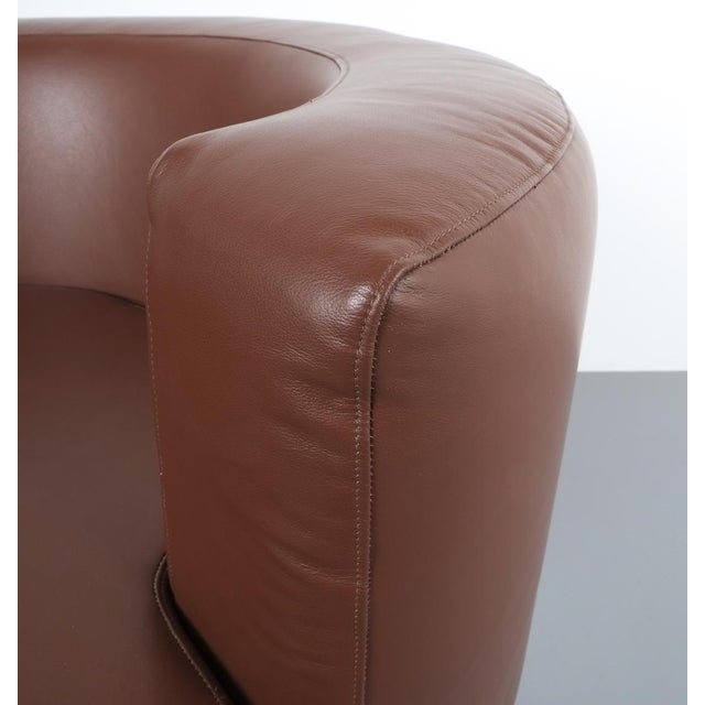 Franco Fraschini Brown Leather Chair for Driade, Italy, 1965 For Sale - Image 10 of 11