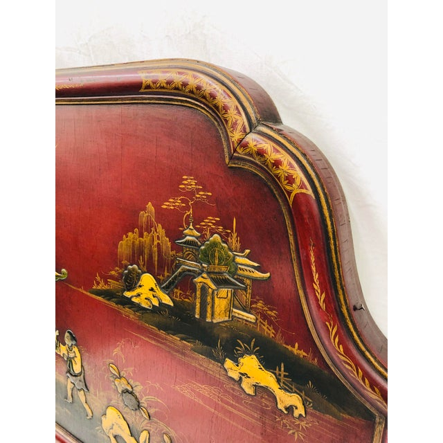 Black Antique Chinoiserie Bed For Sale - Image 8 of 13