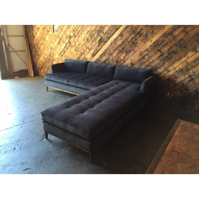 Mid-Century Style Custom Reversible Sofa Chaise Lounge For Sale - Image 5 of 8