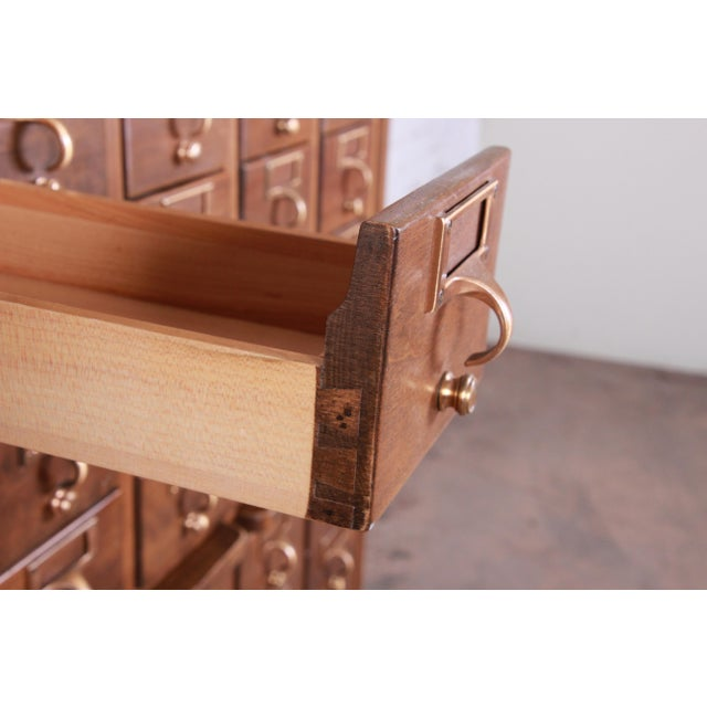 Mid-Century 72-Drawer Library Card Catalog For Sale - Image 11 of 13