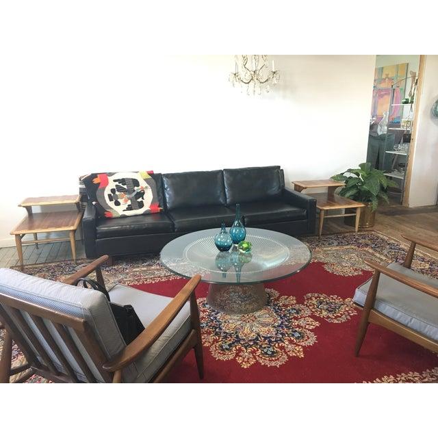 On Hold - Mid Century Black Naugahyde Sofa - Image 8 of 8