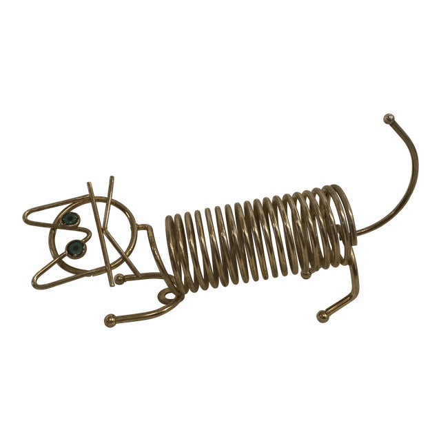 Mid-Century Cat Coiled Letter Holder - Image 1 of 8