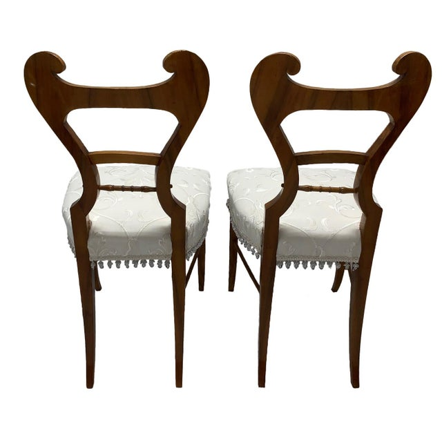 Charles Joseph Biederman Early 19th Century Neoclassical Biedermeier Side Chairs - a Pair For Sale - Image 4 of 8