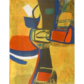 1965 XX Siecle Maurice Esteve Corne a Licou Lithograph For Sale