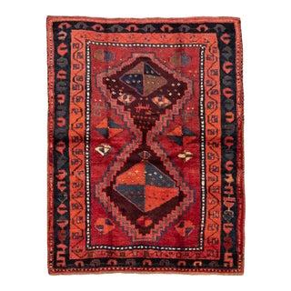 "Vintage Turkish Midnight Gypsy Rug-4'8'x5'10"" For Sale"