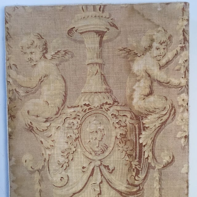 18th Century French Textile Printed Linen Panels - a Pair For Sale - Image 4 of 13