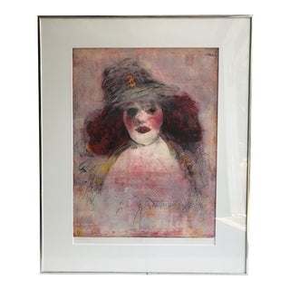 "Original Howard McKenzie ""Gold Digger"" Colored Etching Drawing For Sale"