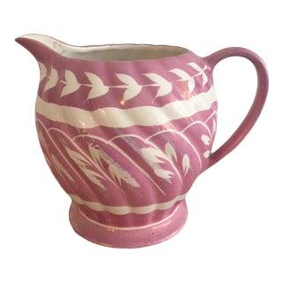 Sandler Ironstone Pink Lustre Ware Creamer For Sale
