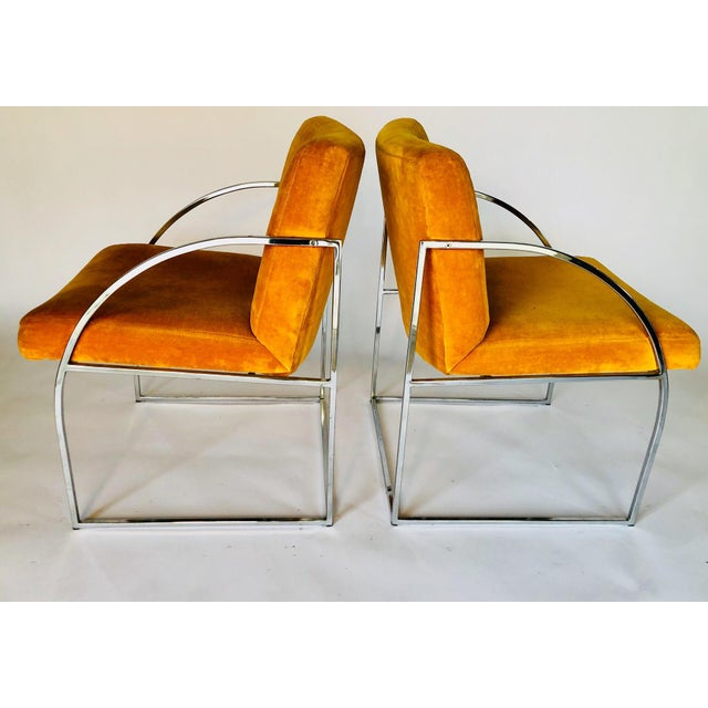 Mid-Century Modern Vintage Mid Century Milo Baughman for Thayer Coggin Chairs- A Pair For Sale - Image 3 of 6