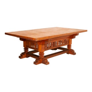 Antique Traditional Library Table For Sale