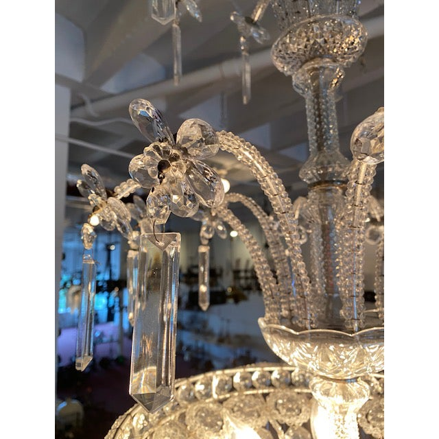 Metal Silver Italian Chandelier For Sale - Image 7 of 7