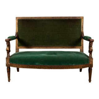 19th Century Egyptian Revival Gilt Sofa For Sale