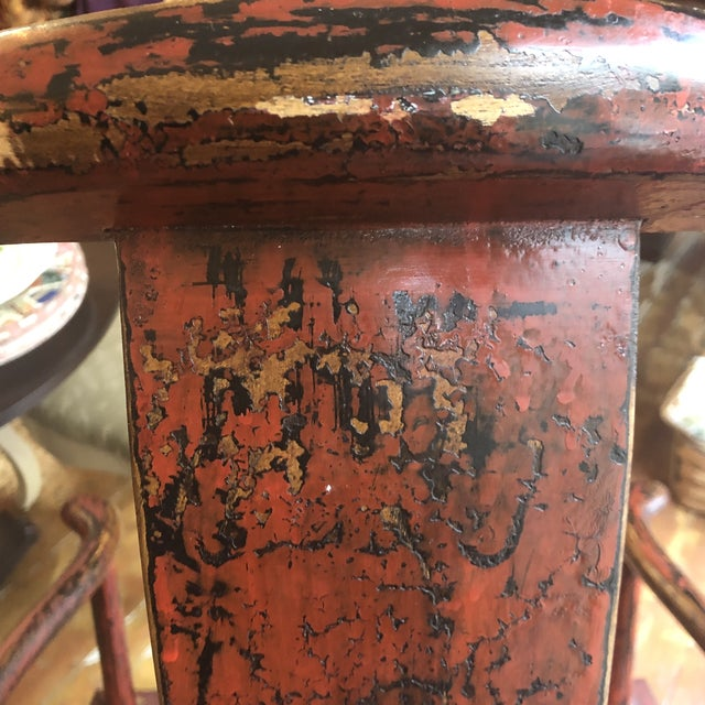 Red Empire Chairs- a Pair For Sale In Kansas City - Image 6 of 13
