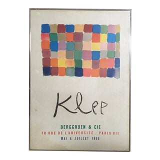 1955 Vintage Paul Klee Gallery Exhibition Poster, For Sale