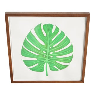 Watercolor Monstera Painting For Sale