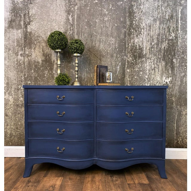 Boho Chic 1940s Vintage Mid Century Painted Dresser For Sale - Image 3 of 8