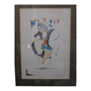 1960s Vintage Richard Lindner Exhibition Poster For Sale
