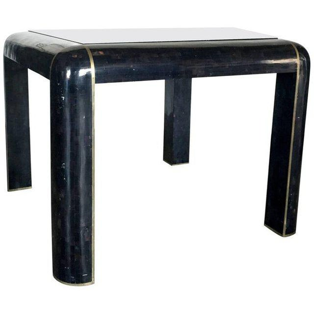 Tesselated Horn Small Dining Table by Maitland Smith For Sale - Image 10 of 10