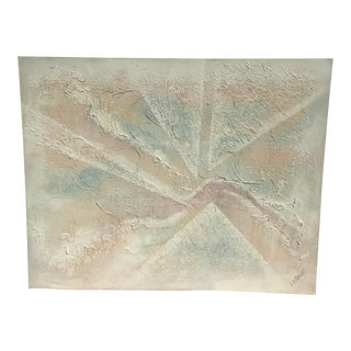 Extra Large- Lee Reynolds Sunrise Mid Century Modern Pastel Abstract Canvas Painting Signed For Sale