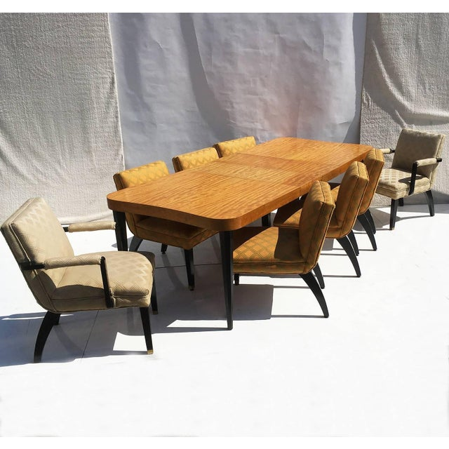"""Gilbert Rohde Art Deco """"Paldao"""" Dining Room Set for Herman Miller, Seats Eight For Sale - Image 10 of 10"""