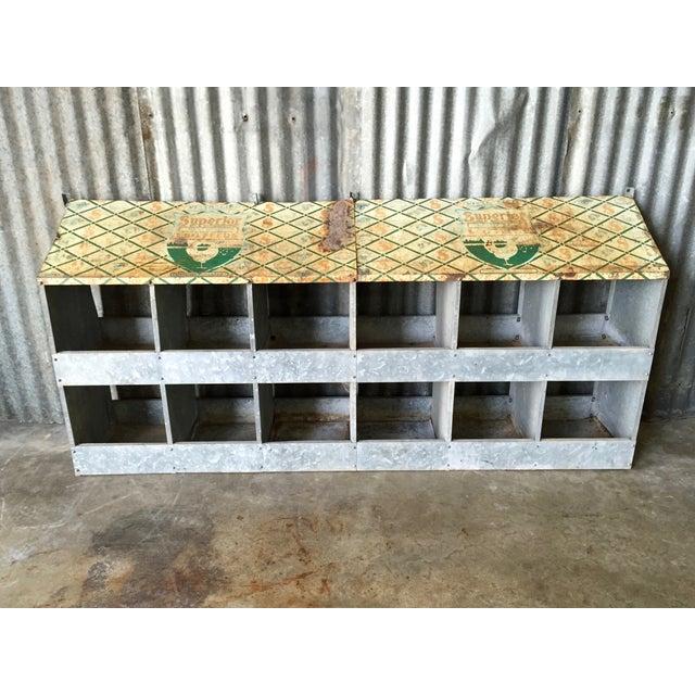 Vintage Chicken Coop Industrial Shelving - Image 2 of 8