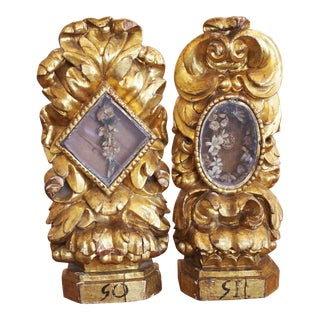 Pair of Baroque Reliquaries For Sale