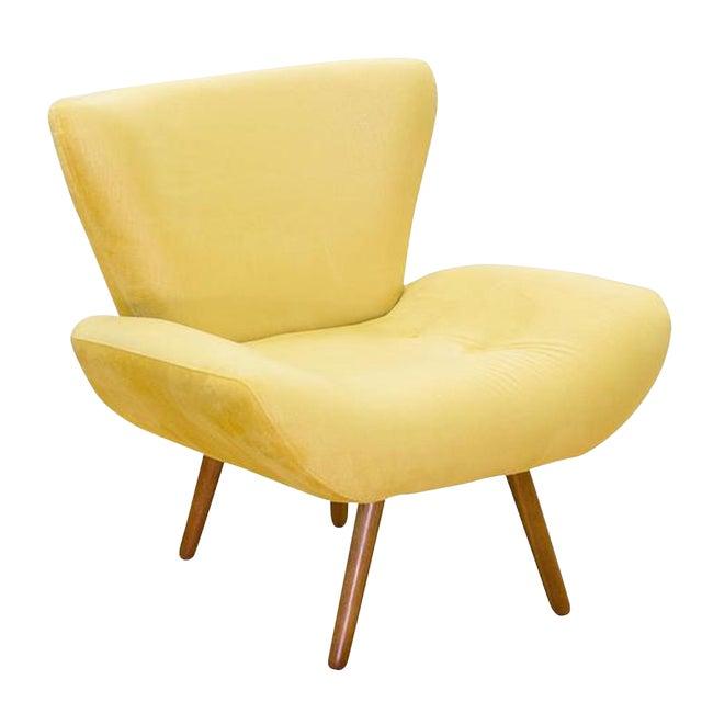 Modern Jaspe Yellow Armchair For Sale