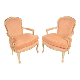 1980s Louis XV Style Painted Occasional Chairs - A Pair For Sale