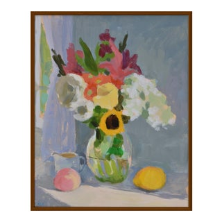 """""""Bouquet With Lemon and Peach"""" by Anne Carrozza Remick, 30"""" X 36"""""""
