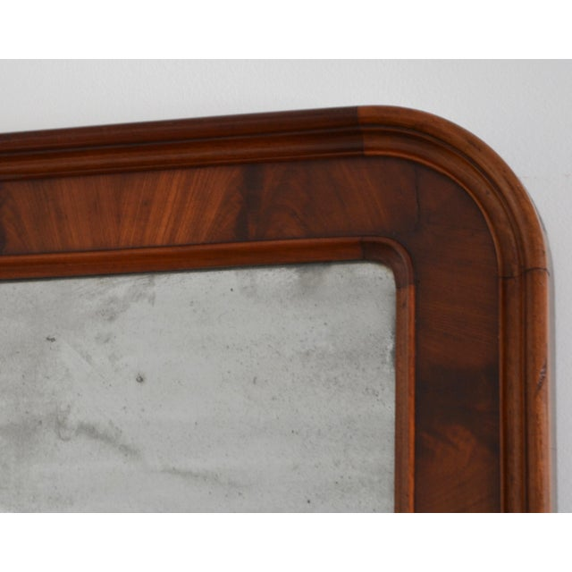 Wood Mid 19th Century Louis Philippe Style Wall Mirror For Sale - Image 7 of 10