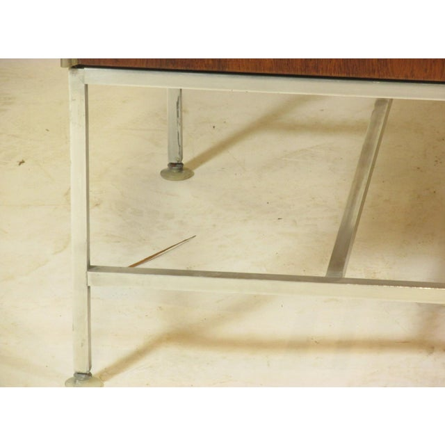 Metal 1950's Mid Century Walnut Server by Paul McCobb For Sale - Image 7 of 11