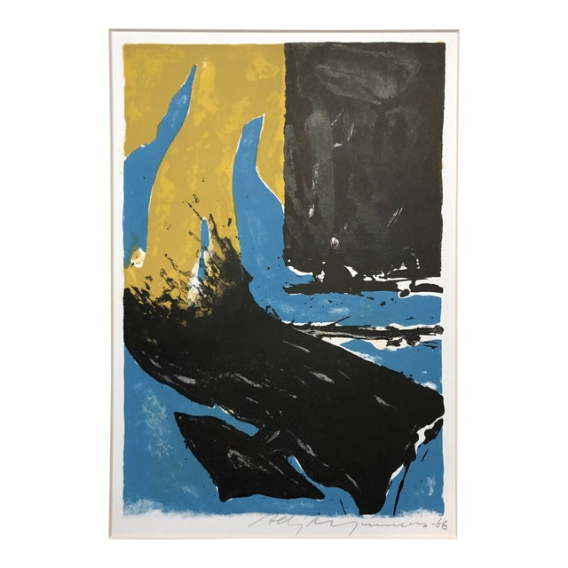 1966 Abstract Lithograph New York Artist For Sale