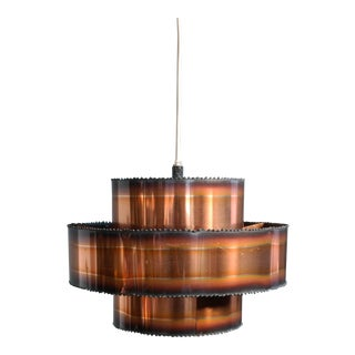 Brutalist Style Patinated Copper Pendant by Svend Aage Holm Sørensen, Denmark For Sale