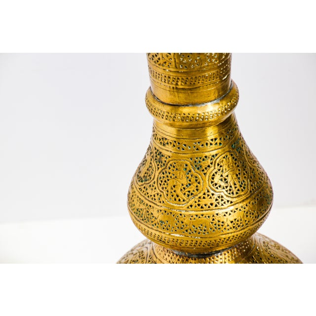 19th Century Antique Syrian Brass Dining Table Base For Sale - Image 12 of 13