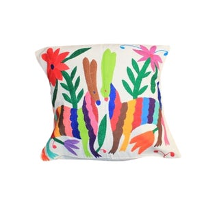 Multicolor Otomi Hand-Stitched Pillow