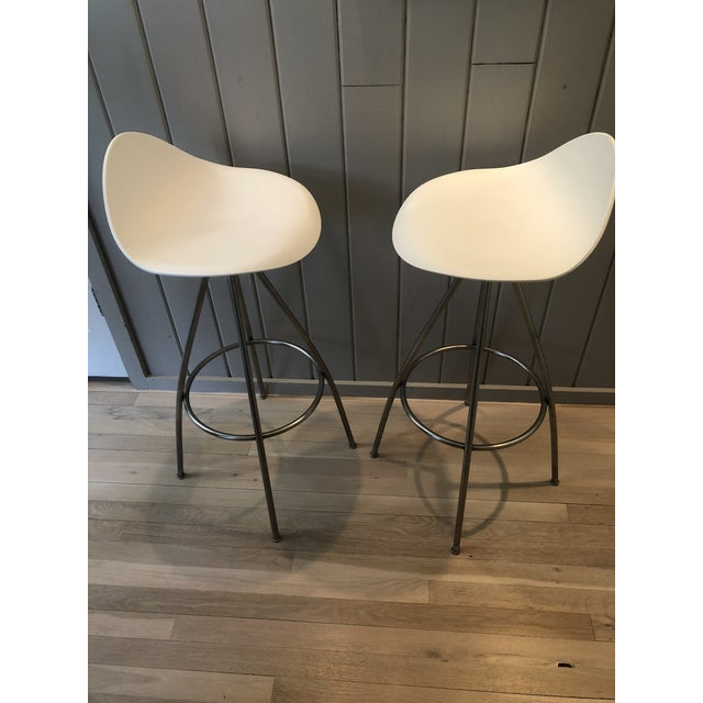 Modern Jesús Gasca for Stua Onda Bar Stools - a Pair For Sale - Image 3 of 10