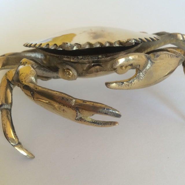 Coastal Living Brass Crab Ash Tray - Image 9 of 9