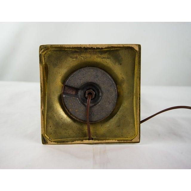 Danish Modern Teak & Brass Table Lamp For Sale - Image 9 of 10