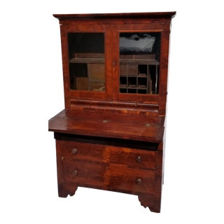 1800 Traditional Secretary Desk With Hutch For Sale