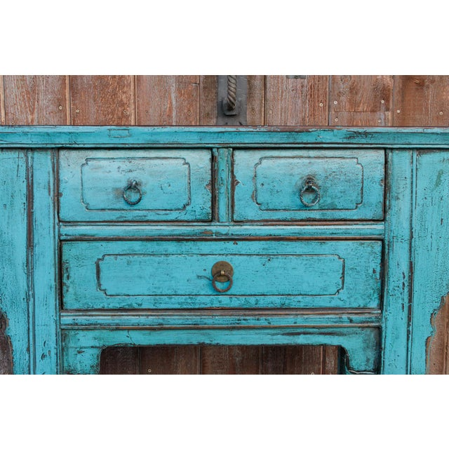 Beautiful Chinese Turquoise Altar Dresser For Sale In Los Angeles - Image 6 of 9