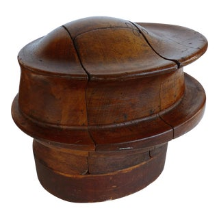 19th-Century Industrial Hat Block 4-Piece Haberdashery Mold