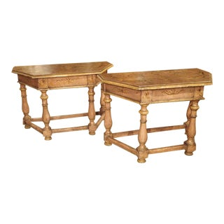 Antique Painted Console Tables From Northern Italy, Circa 1800 - a Pair For Sale