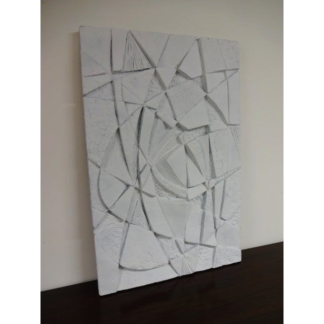 Mid-Century 3D Geometric Wall Hanging Sculpture - Image 9 of 10