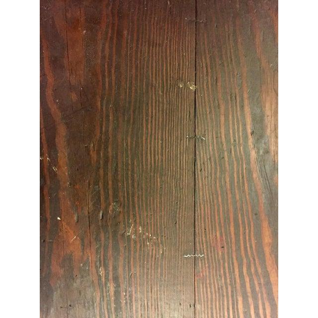 Wood 1930's Vintage Primitive Large Oak Trunk For Sale - Image 7 of 11