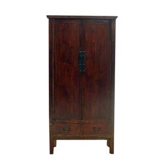 Late 19th Century Antique Chinese Wood Cabinet For Sale