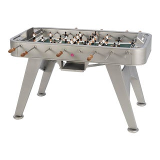 RS Barcelona Stainless Steel Foosball Table, Inox For Sale