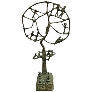 "African ""Monkey Tree"" Bronze Sculpture For Sale"