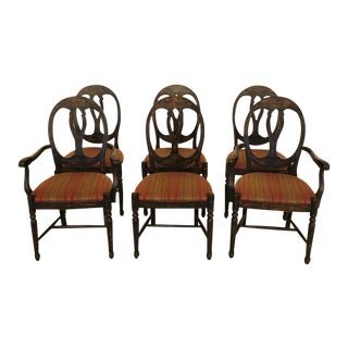 Italian Paint Decorated Dining Room Chairs - Set of 6